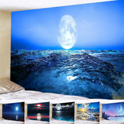 Tapestry Decoration Landscape Sea Night Starry Wall Hanging Decorations