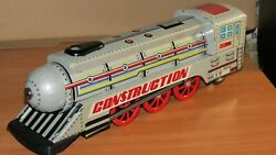 Vintage Early China Toy Mf 989 Tin Friction Noisy Locomotive Boxed