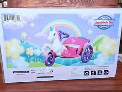Nib Best Ride On Cars 6v Unicorn Carriage Powered/charger Icluded Ride-on-pink