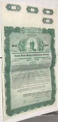 1909 Nevada Victor Mining And Reduction Company Gold Bond Certificate