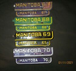 Motorcycle Automobile Truck Manitoba Canada Licence Plate Tab Strip 1967-1970