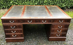 Amazing Large Victorian Style Mahogany Partners Desk Ideal For Social Distance