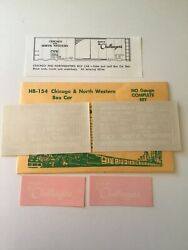 Champ Decals Ho Scale Hb-154 Chicago And North Western Cnw Box Car H-3