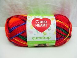 1 Skein Red Heart Gumdrop Acrylic Yarn Popsicle Discontinued 4 Oz. 204 Yds