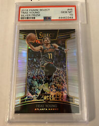 2018-19 Select Silver Prizm 45 Trae Young Hawks Rc Rookie Psa 10 Gem Mint