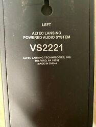 Altec Lansing Vs2221 Computer Speakers Used Condition Not Tested