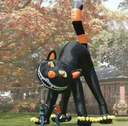 20 Ft Animated Black Cat Halloween Airblown Inflatable Lighted Yard Decor Rare