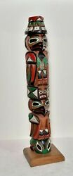 Carved And Painted Totem Pole By Barb.williams North West Coast. 20th.century. $250.00