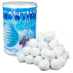 New Indoor Winter Snowball Fight Snowtime Anytime 40 Pack Fun Christmas Winter