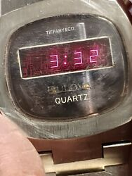Bulova Computron Led Watch 1976 All Stainless Steel In Good Working...condition