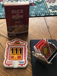 Vintage Rice- A -roni Ceramic Collectable Spoon Rest And Twinings Tea Bag Holder