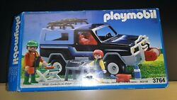 Playmobil 3764 4x4 Black Jeep vintage Complete in Box Great Shape