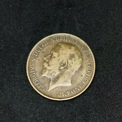 1912 Britain England British English Large Cent Penny Currency King George V