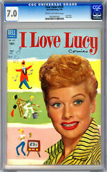 I Love Lucy 1 Cgc 7.0 Aka Four Color 535 Classic 1950andrsquos Tv Series Dell 1954