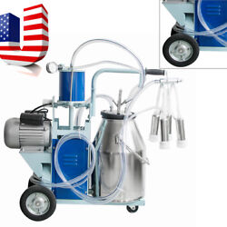 Usa Electric Milking Machine For Cattle Cows With Bucket 12cows/hour Milker Ce