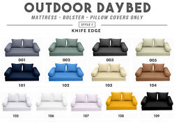 Style1 Outdoor Daybed Knife Edge Bolster Pillow Mattress Fitted Sheet Cover Only