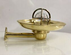 Antique Old Bygone Brass Swan Wiska Ship Trio Rod Light With Shade Lot Of 5