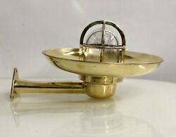 Antique Old Bygone Brass Swan Wiska Ship Trio Rod Light With Shade Lot Of 10