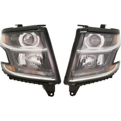 Headlights Lamps Set Of 2 Left-and-right For Chevy 84166453, 84166452 Tahoe Pair