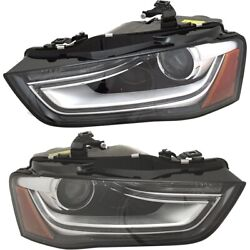 Set Of 2 Headlights Lamps Left-and-right 8k0941044e, 8k0941043e Lh And Rh Pair