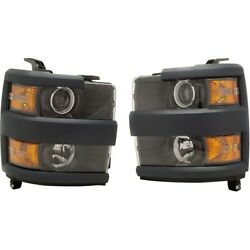 Pair Set Of 2 Headlights Lamps Left-and-right For Chevy 84388597, 84388596