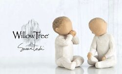 Two Together Figure Sculpture Hand Painting Willow Tree By Susan Lorde