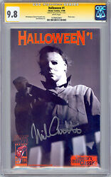 Halloween 1 Cgc-ss 9.8 Signed By Actor Nick Castle Aka Orig Michael Meyers 2000