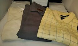 Lot Of 3•dockers Etc Summer Comfort Golf Polo Shirts Mens Large Striped Plaid•h5