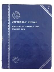 Jefferson Nickel Collection 1962 Whitman Blue No. 9039 Empty Coin Book T551