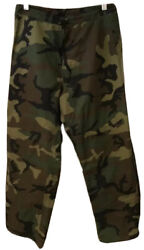 Usmc Army Woodland Green Gortex Trousers Cold Weather Pants Size Small Regular