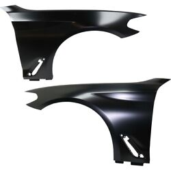 Set Of 2 Fenders Front Left-and-right For 530 540 Aluminum Lh And Rh Bmw 530i Pair