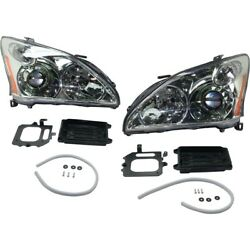 Hid Headlights Lamps Set Of 2 Left-and-right Hid/xenon Lh And Rh For Rx330 Pair