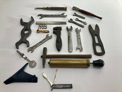Lot Collectible Vintage Wrenches Pump Knife Driver Cutter 1933 Emblem Hammer