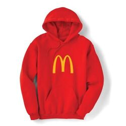 Mcdonalds Golden Arches Hoodie Sweatshirt With Pockets - Red - Large - New