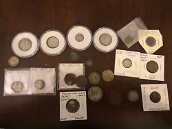 Danish Weat Indies Coin Collection Virgin Islands Silver