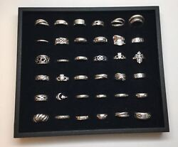 Lot Of 36 Sterling Silver Rings No Stones Assorted Sizes G
