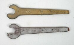 Lot Of 2 Vintage Delaval Cream Separator Wrenches Flat Head Screw End