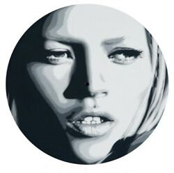 Ben Frost Kate Moss Vinyl Record And Sleeve Stencil And Spray Paint Original Art
