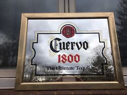"""Cuervo 1800 The Ultimate Tequila Hanging Wall Sign Mirror 19.25""""x 15.25"""""""