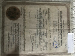 1928 Durant Convertible Pickup Historical Document And Firewall Tag
