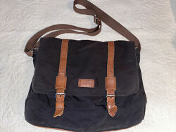 Fossil Men#x27;s Canvas And Leather Messenger Bag Pre Owned Great Condition $45.00