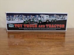 2013 Hess   Toy Truck And Tractor New In Original Box