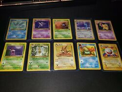 10 Vintage 1999 Pokemon Card Lot Jungle Fossil And Rares $44.99