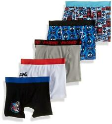 Spiderman Boys#x27; Big Spiderverse Boxer Brief 5 Pack 6 Spiderverse Size 6.0 MvO
