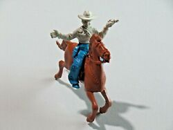 Vintage Lido Horse With Cowboy Hat Pistol In Hand Plastic Toy C1950's 8231