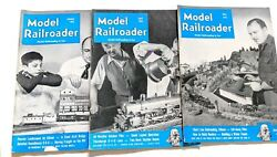 Vintage Lot Of 3 The Model Railroader Train Magazines 1951 January April May