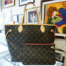 ✾#x27;✾Louis✾#x27;✾ Vuitton✾#x27;✾ Neverfull MM Mon Monogram Tote Bag Purse with Clutch Red $620.00