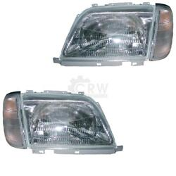 Headlight Set Mercedes Sl-class R129 Year 92-01 With Indicator White H4 4ho