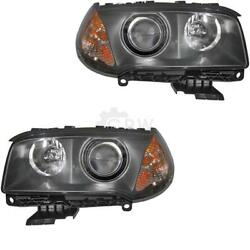 Xenon Headlight Set For Bmw X3 Year 04-06 With Indicator Yellow D2s+h7 Dgy