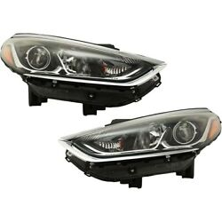 Headlights Lamps Set Of 2 Left-and-right 92102c2500 92101c2500 Lh And Rh Pair